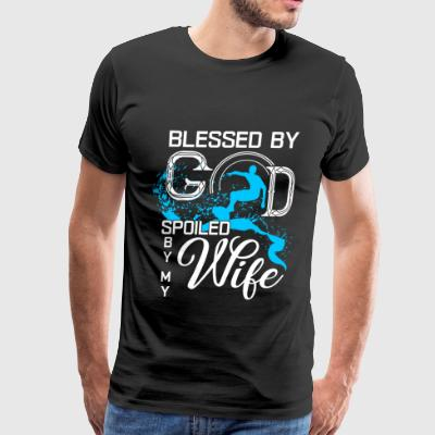 Blessed By God Spoiled By My Wife T Shirt - Men's Premium T-Shirt