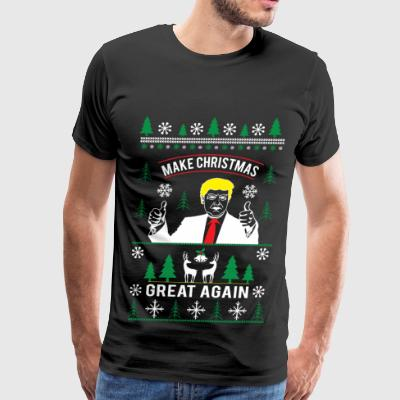 Make Christmas great again ugly christmas sweater - Men's Premium T-Shirt
