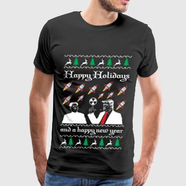Happy Holidays and a happy new year ugly sweater - Men's Premium T-Shirt