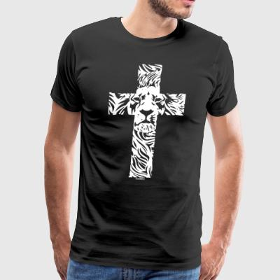 Lion Cross Religious Christian Rasta - Men's Premium T-Shirt