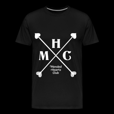 Mended hearts club monochromatic - Men's Premium T-Shirt