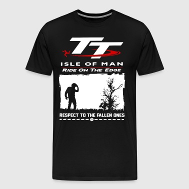 TT isle of man ride on the edge respect to the fal - Men's Premium T-Shirt