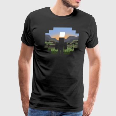 Mine craft Landscape - Men's Premium T-Shirt