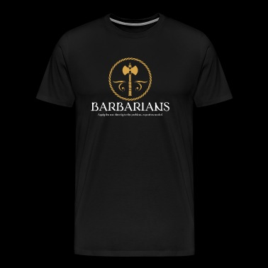 Barbarian Meme Dragons in Dungeons Tabletop RPG - Men's Premium T-Shirt
