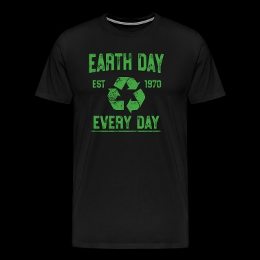 Earth Day Every Day Vintage Shirt Science Climate Change - Men's Premium T-Shirt
