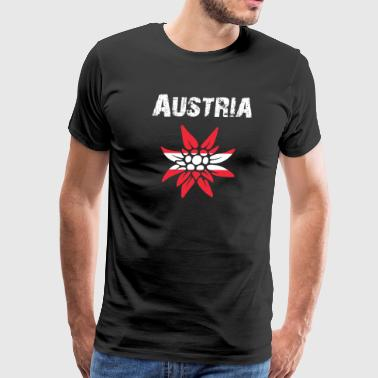 Nation-Design Austria Edelsweiss rtxxkF - Men's Premium T-Shirt