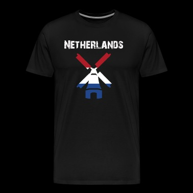 Nation-Design Netherlands Windmill FM7AI - Men's Premium T-Shirt