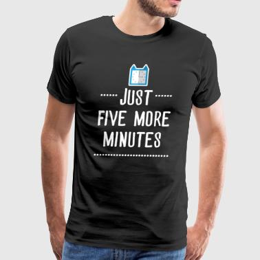 Gaming shirt- Just 5 more minutes - Men's Premium T-Shirt