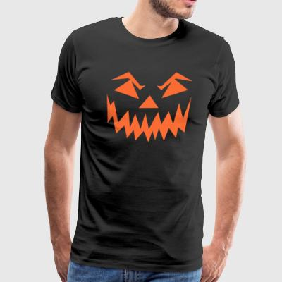 Pumpkin Face Turnip Jack O Lantern Smile Halloween - Men's Premium T-Shirt