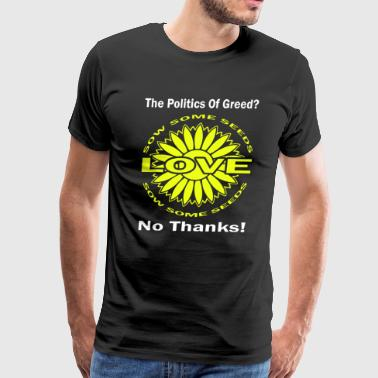 Political The 80 s 60 s Hippy Anti Capitalism - Men's Premium T-Shirt