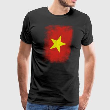 Vietnam Flag Proud Vietnamese Vintage Distressed - Men's Premium T-Shirt