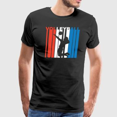 Red White And Blue Volleyball - Men's Premium T-Shirt