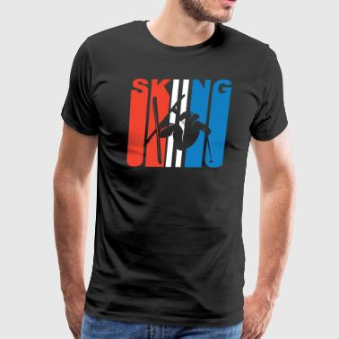 Red White And Blue Skiing - Men's Premium T-Shirt