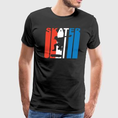Red White And Blue Skater Skateboarding - Men's Premium T-Shirt
