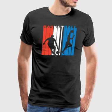 Red White And Blue Basketball - Men's Premium T-Shirt