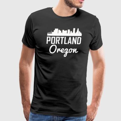 Portland Oregon Skyline - Men's Premium T-Shirt