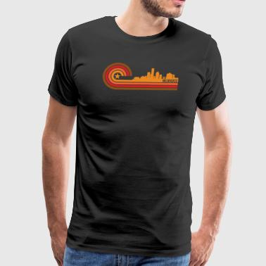 Retro Style Milwaukee Wisconsin Skyline - Men's Premium T-Shirt