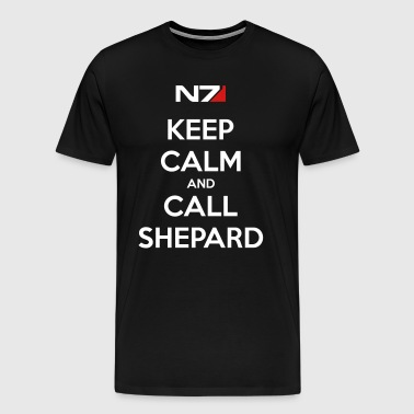 Keep Calm Shephard - Men's Premium T-Shirt