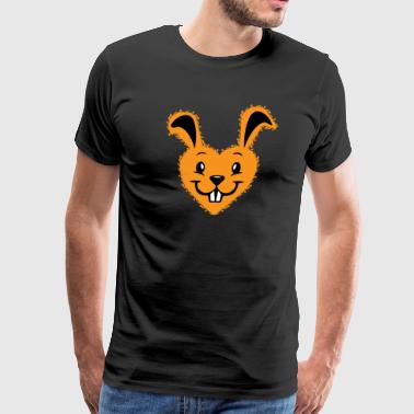 Bunny love, Bunny heart, happy easter day - Men's Premium T-Shirt