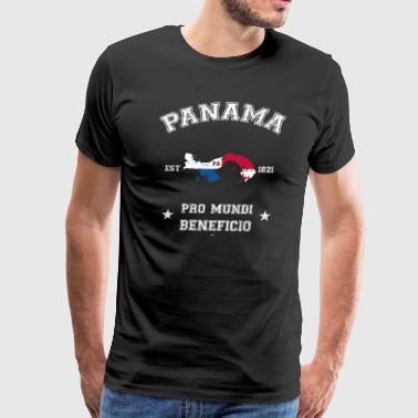 Panama vintage map with date of founding - Men's Premium T-Shirt