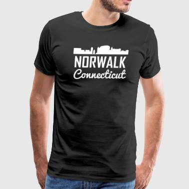 Norwalk Connecticut Skyline - Men's Premium T-Shirt