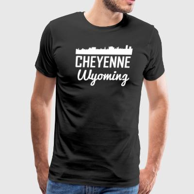 Cheyenne Wyoming Skyline - Men's Premium T-Shirt