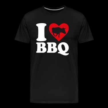 I love BBQ - Men's Premium T-Shirt