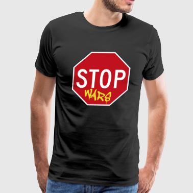 Stop wars war sign - Men's Premium T-Shirt