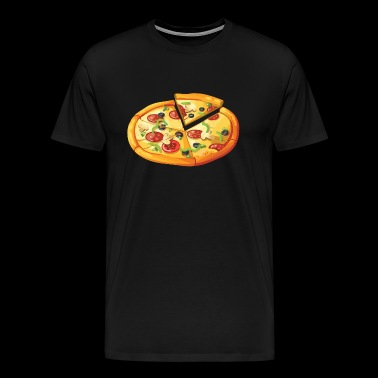 Pizza for fans, parents and kids - Men's Premium T-Shirt