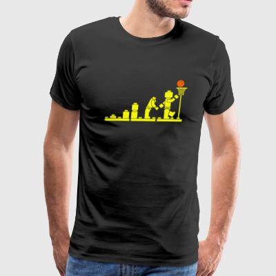 EVOLUTION LEGO BASKETBALL SPORTS funny - Men's Premium T-Shirt