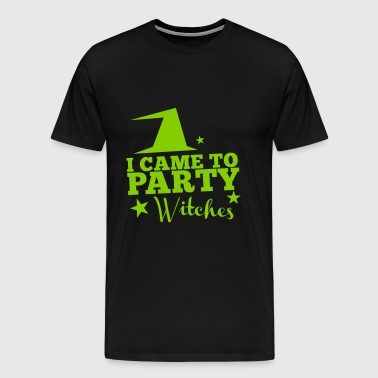 I came to party witches with witch hat - Men's Premium T-Shirt