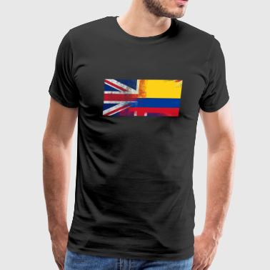 British Colombian Half Colombia Half UK Flag - Men's Premium T-Shirt