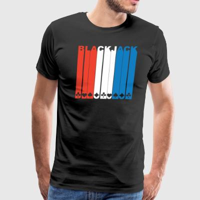 Red White And Blue Blackjack - Men's Premium T-Shirt