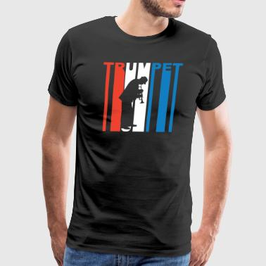 Red White And Blue Trumpet - Men's Premium T-Shirt