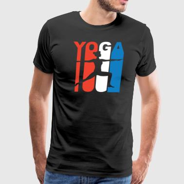 Red White And Blue Yoga - Men's Premium T-Shirt