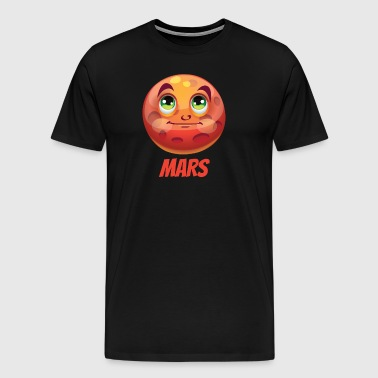 Cartoon Planet Mars - Men's Premium T-Shirt