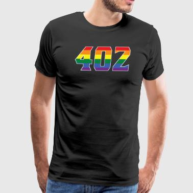 Gay Pride 402 Omaha Area Code - Men's Premium T-Shirt