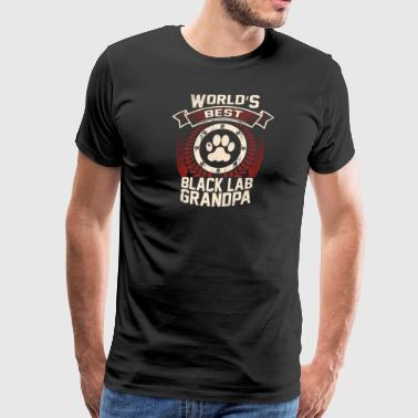 World's Best Black Lab Grandpa - Men's Premium T-Shirt