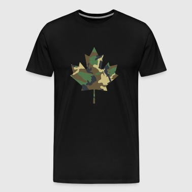 Camo Maple Leaf - Men's Premium T-Shirt
