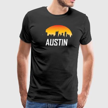Austin Texas Sunset Skyline - Men's Premium T-Shirt