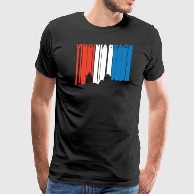 Red White Blue Virginia Beach Virginia Skyline - Men's Premium T-Shirt