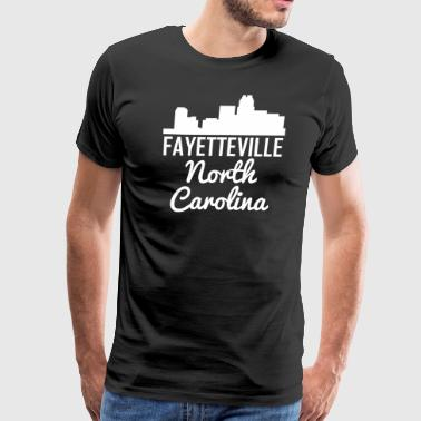 Fayetteville North Carolina Skyline - Men's Premium T-Shirt