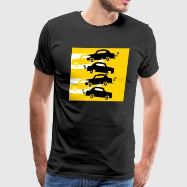 cars in the city - Men's Premium T-Shirt