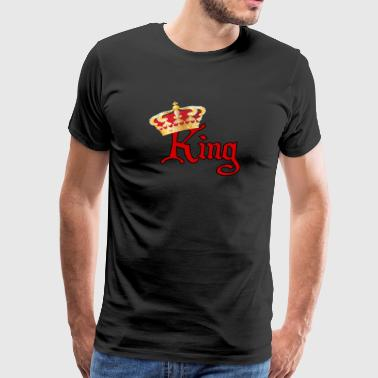 He is Your King-Red &Gold - Men's Premium T-Shirt