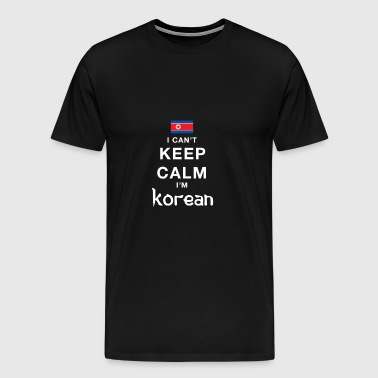 I CAN'T KEEP CALM - i'am north korean - Men's Premium T-Shirt