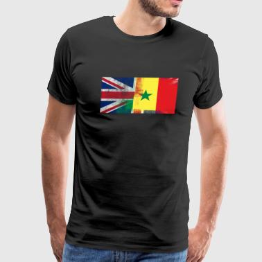 British Senegalese Half Senegal Half UK Flag - Men's Premium T-Shirt
