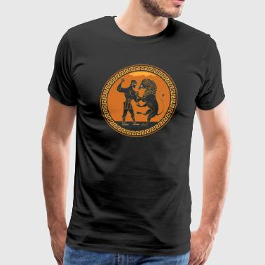 Wrestling Lion - Men's Premium T-Shirt