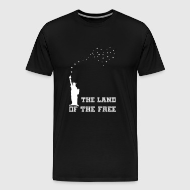 The Land Of The Free for black - Men's Premium T-Shirt