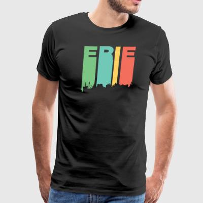 Retro 1970's Style Erie Pennsylvania Skyline - Men's Premium T-Shirt