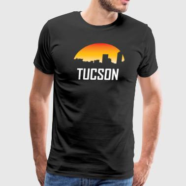 Tucson Arizona Sunset Skyline - Men's Premium T-Shirt